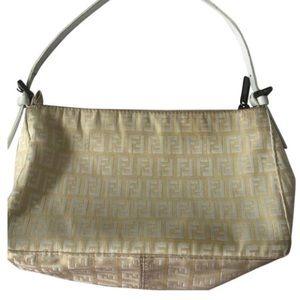 White FENDI monogram shoulder bag